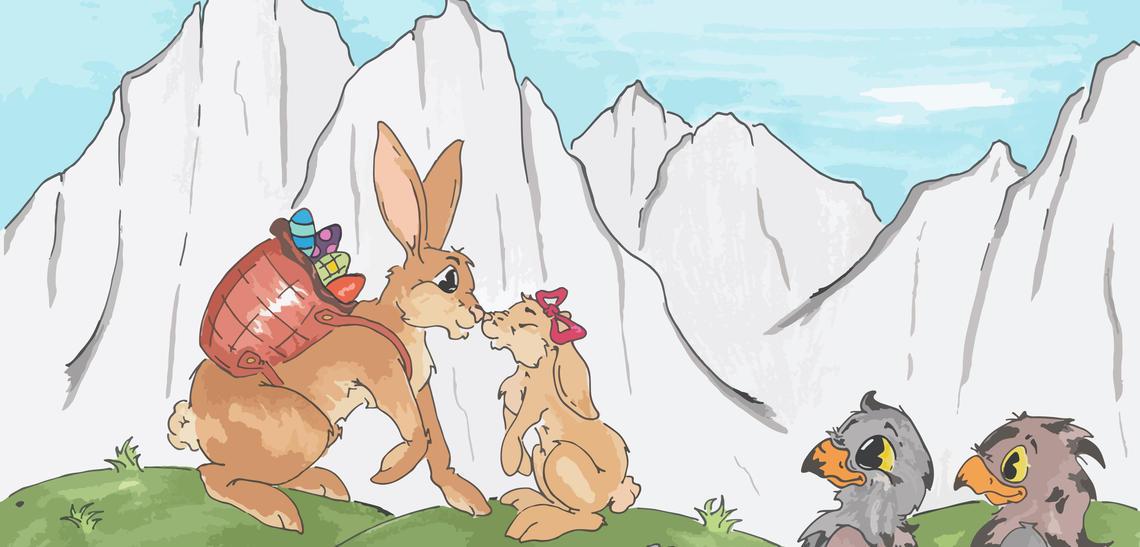 Aquilotto und Antonio suchen den Osterhasen